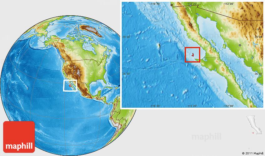 Baja California Mexico Map Location on California Physical Map