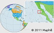 Political Location Map of Isla Cedros