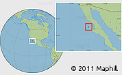 Savanna Style Location Map of Isla Cedros