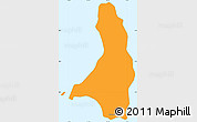 Political Simple Map of Isla Cedros, single color outside