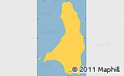 Savanna Style Simple Map of Isla Cedros