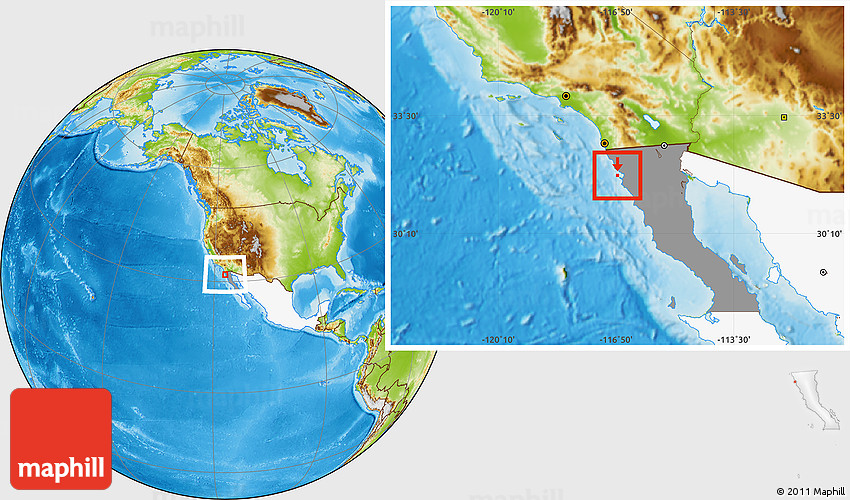 Physical Location Map Of Isla De Todos Los Santos Highlighted Country Highlighted Parent Region