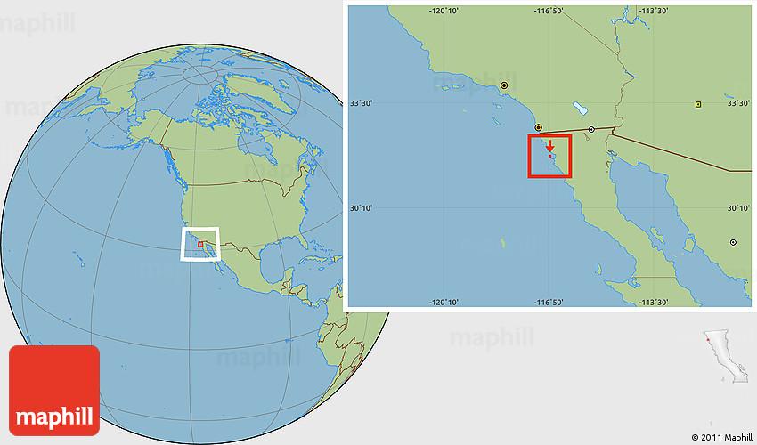 Savanna Style Location Map Of Isla De Todos Los Santos