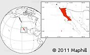Blank Location Map of Baja California