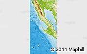 Physical Map of Baja California