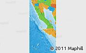 Political Map of Baja California