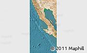 Satellite Map of Baja California