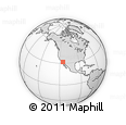 Outline Map of Mexicali