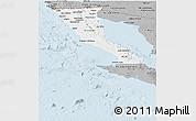 Gray Panoramic Map of Baja California