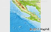 Physical Panoramic Map of Baja California