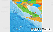Political Panoramic Map of Baja California