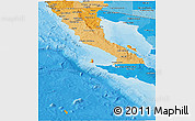 Political Shades Panoramic Map of Baja California