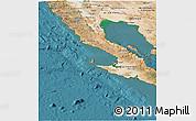 Satellite Panoramic Map of Baja California