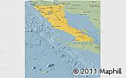 Savanna Style Panoramic Map of Baja California