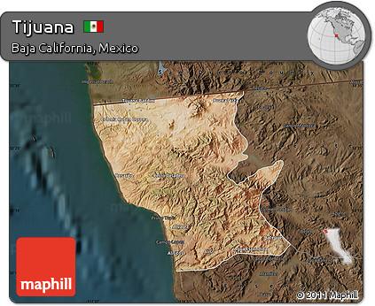 darken satellite map of tijuana darken
