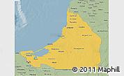 Savanna Style 3D Map of Campeche