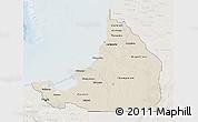 Shaded Relief 3D Map of Campeche, lighten