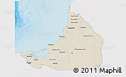 Shaded Relief 3D Map of Campeche, single color outside