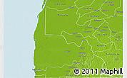 Physical 3D Map of Calkini