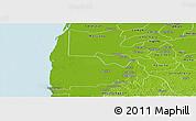 Physical Panoramic Map of Calkini