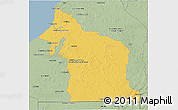 Savanna Style 3D Map of Champoton