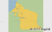 Savanna Style 3D Map of Champoton, single color outside