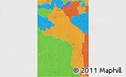 Political 3D Map of Hopelchen