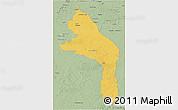 Savanna Style 3D Map of Hopelchen