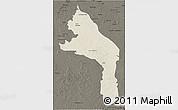 Shaded Relief 3D Map of Hopelchen, darken