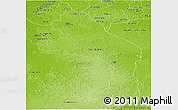 Physical Panoramic Map of Hopelchen