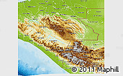 Physical 3D Map of Chiapas
