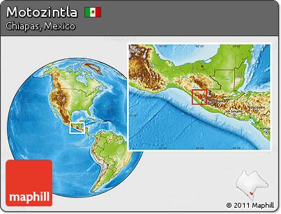 Physical Location Map of Motozintla