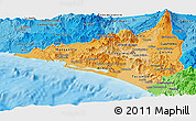 Political Shades Panoramic Map of Colima
