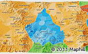 Political Shades 3D Map of Distrito Federal