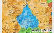 Political Shades Map of Distrito Federal