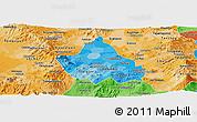 Political Shades Panoramic Map of Distrito Federal