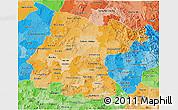 Political Shades 3D Map of Guanajuato