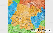 Political Shades Map of Guanajuato