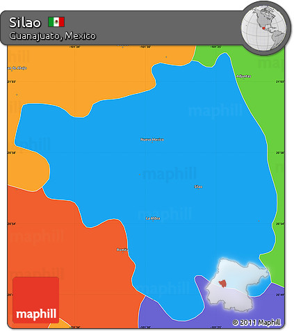 Free Political Simple Map Of Silao