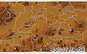Physical 3D Map of Valle de Santiago