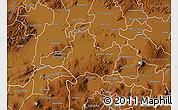 Physical Map of Valle de Santiago
