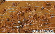 Physical 3D Map of Yuriria