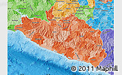 Political Shades Map of Guerrero