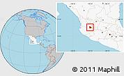 Gray Location Map of Zapopan