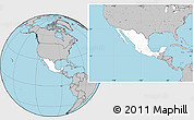 Blank Location Map of Mexico, gray outside