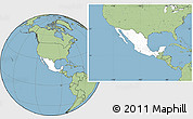 Blank Location Map of Mexico, savanna style outside