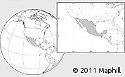 Gray Location Map of Mexico, blank outside