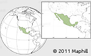 Savanna Style Location Map of Mexico, blank outside