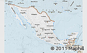 Classic Style Map of Mexico