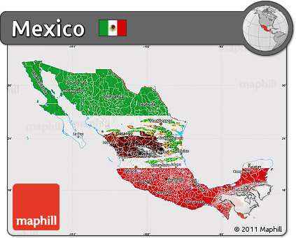 Free Flag Map Of Mexico Flag Rotated